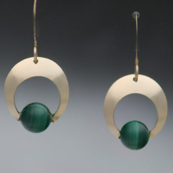 E-CRESCENT-14K-GF-MALACHITE