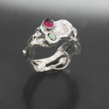 UR-FLOW-STONE-RING-SS-OPAL-TOURMALINE